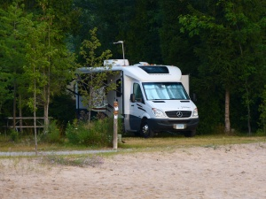 Our View on our campsite, Mackinac Mill Creek Campground, Michigan.