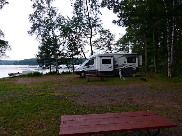 Our campsite at Iron Lake.