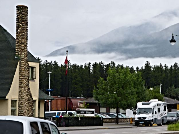 The View on the side of the road in downtown Jasper
