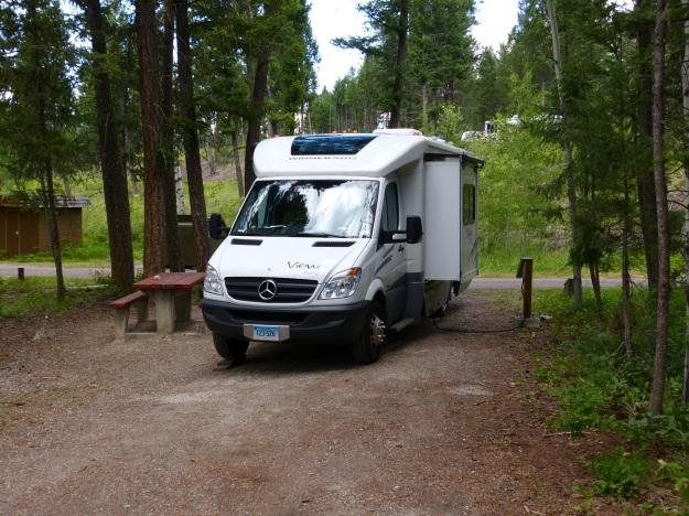 Campsite at Red Streak Campground, Kootenay NP near Radium Springs.