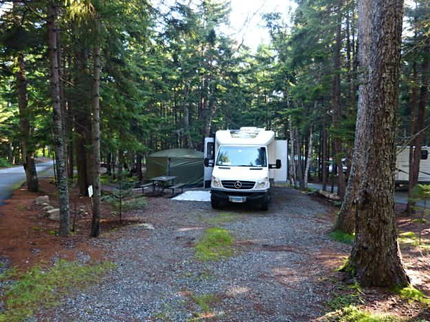 Blackwoods campground in Acadia, site A79