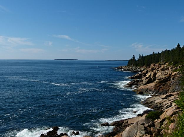 view from the ocean path at Blackwoods campground in Acadia