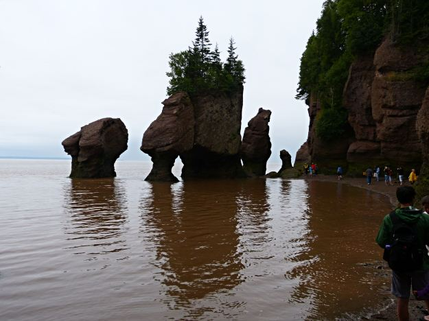 The tide goes up 48 feet at this location on the Bay of Fundy.