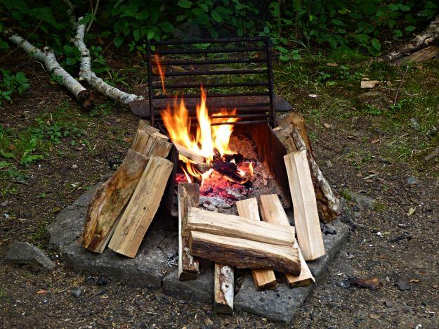 Last night's campfire!