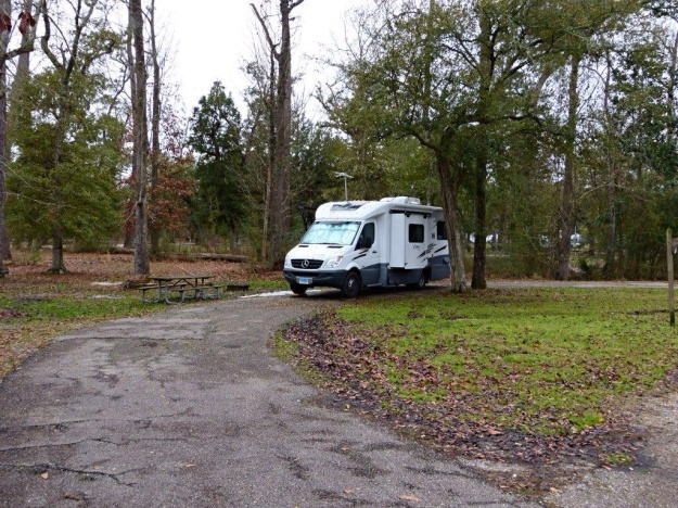 Our campsite at Fountainbleau State Park, Louisiana