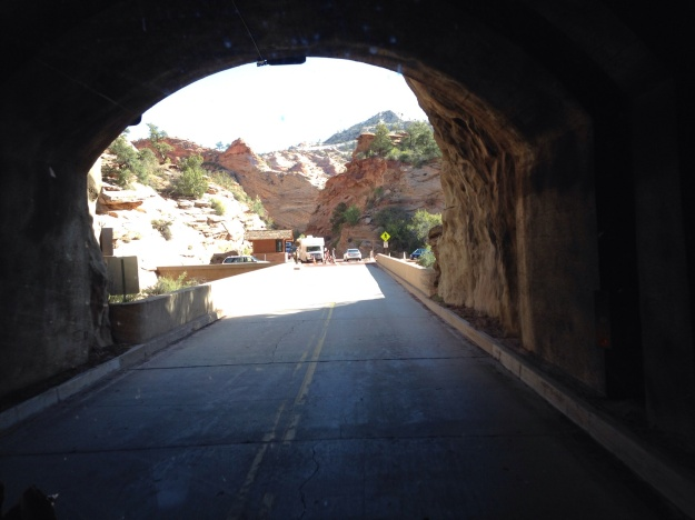 One mile long tunnel through the rock