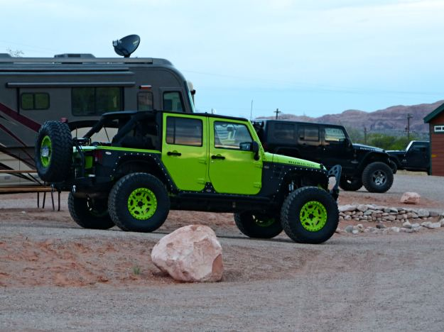 Jeeps in campground