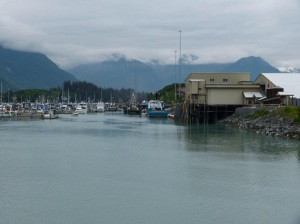 View from our camp site, Valdez small boat harbor